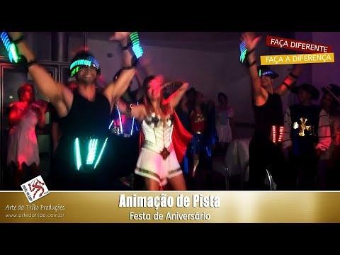 Arte da Tribo - Animação de Pista e Animadores de Pista com LED em Festa de Aniversário no Buffet Espaço Paulista - (11) 3222-5550 / 98875-7030