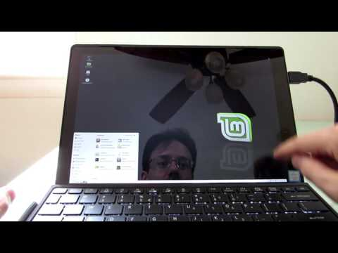 Acer Switch Alpha 12 tablet running Linux Mint 18