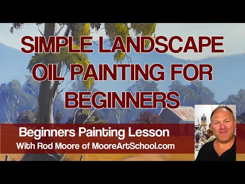Simple Landscape Oil Painting For Beginners - Live Stream #MooreMethod