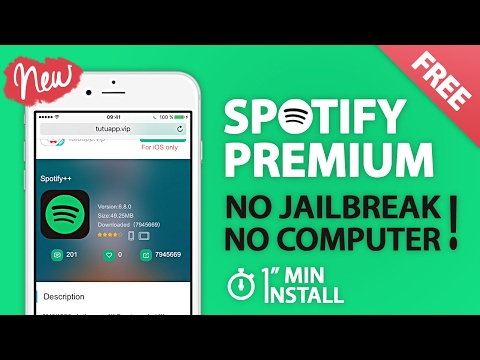 How to Get Spotify Premium for Free - iPhone iOS 10 - No Jailbreak No PC - 1 MIN INSTALL