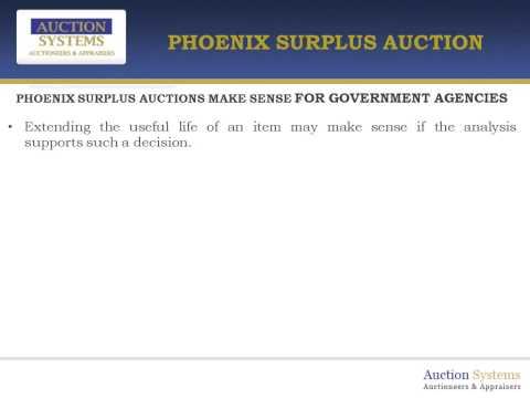 Phoenix Surplus Auctions Generate Revenues for Government Agencies