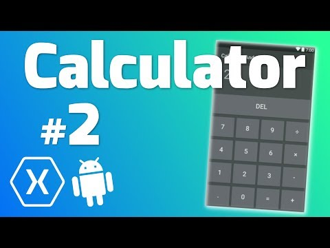 Make a CALCULATOR App with Xamarin Android #2 - Coding Calculator Logic in C#