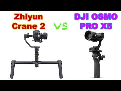 Zhiyun Crane 2 vs DJI OSMO Pro Combo Zenmuse X5
