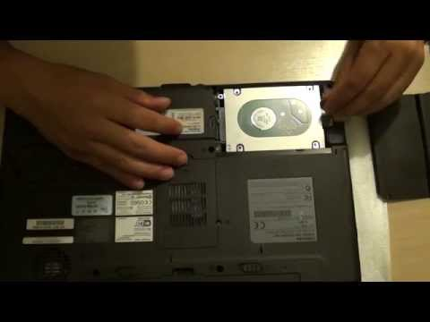 Toshiba Satellite Laptop A200: How to Remove / Install the Hard Drive for Upgrade