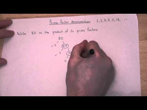 Writing a number as the product of its prime factors easily