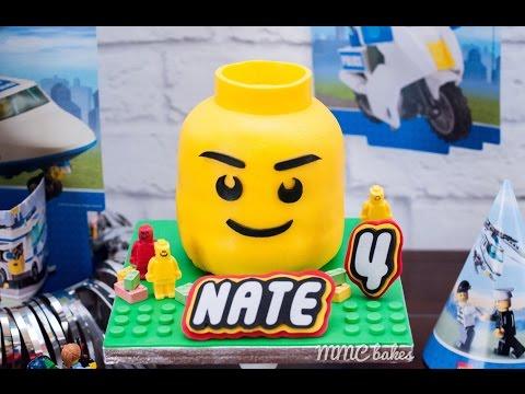 LEGO Head cake - Showcase- MMC BAKES