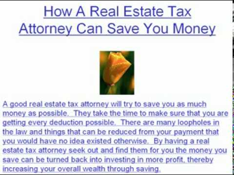The Functions Of A Real Estate Tax Attorney