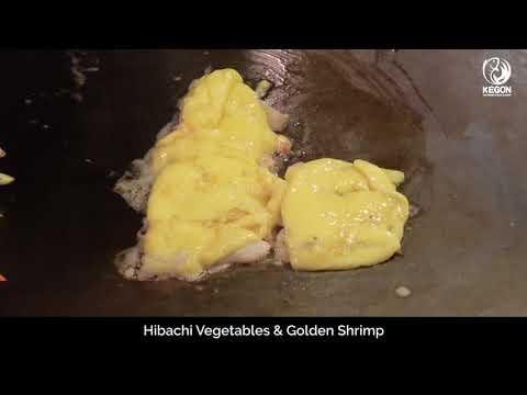 [Kegon Sushi & Teppanyaki] Hibachi Vegetables & golden shrimp