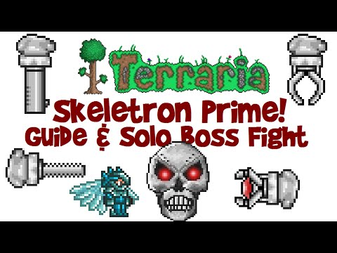 Skeletron Prime Guide & SOLO Boss Fight! (Terraria 1.3 Let's Play PC)