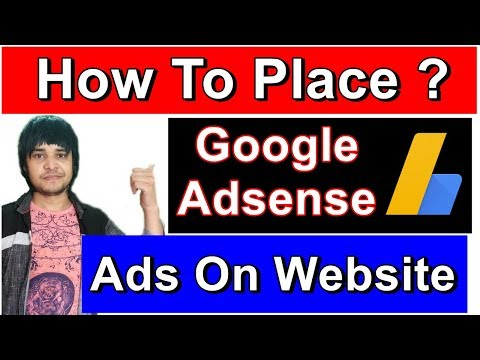 How To Place Google Adsense Ads On Website | How To Put Ads On Your Wordpress Website [ hindi ]