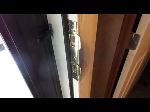 How to repair a damaged door jamb and strike after being KICKED IN!
