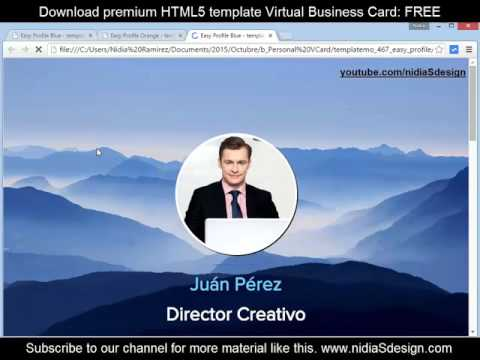 → How to make a personal website (vCard Business Card) HTML5 Responsive