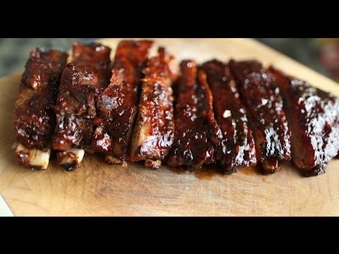 Grill to Oven Baked Spare Ribs-Recipe