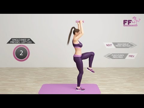 HIIT for Beginners - Safe for Knees, No Jumping (Female Fit Body)