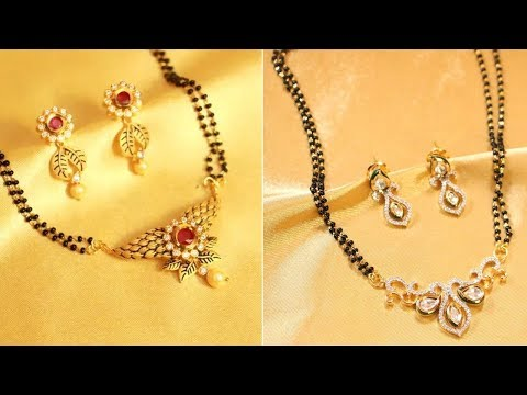 Short Gold Mangalsutra Designs With Weight – EMI Options Avavilable