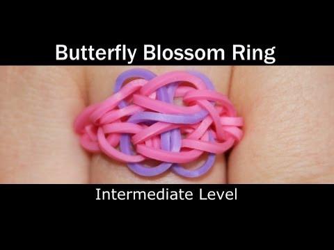 Rainbow Loom® Butterfly Blossom Ring