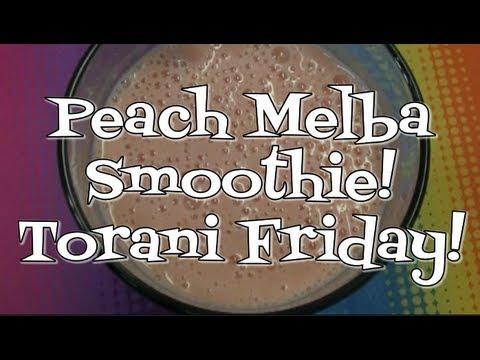 Peach Melba Smoothie! Torani Friday!  Noreen's Kitchen