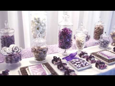 Elegant Purple Wedding Candy Bar - Enchanted Empire, Event Artisans
