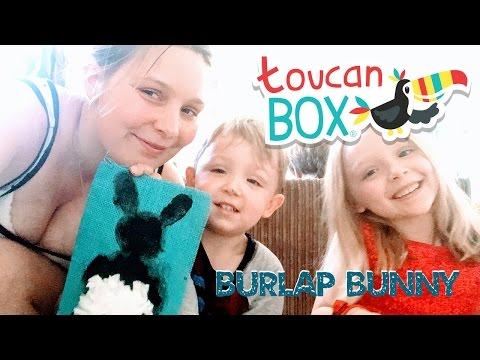 Toucan Box:  Burlap Bunny