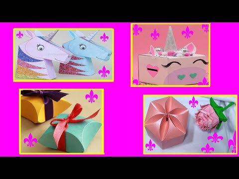 DIY Handmade Gift Box | Easy DIY Arts And Crafts | BEST GIFTS FOR UNICORN LOVERS | unicorn gift box