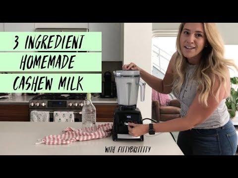 3 Ingredient Homemade Organic Cashew Milk
