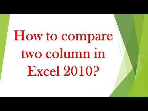 How to compare two columns in Microsoft Excel 2013