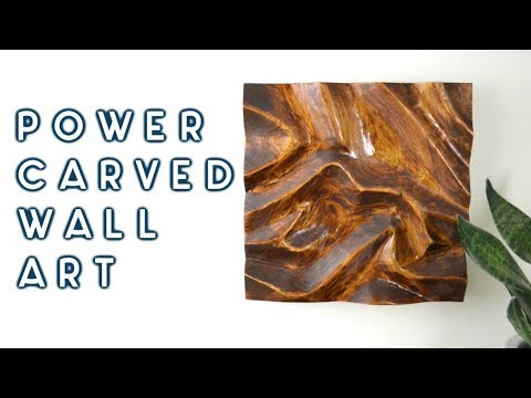 DIY Power Carved Wall Art | woodworking how to
