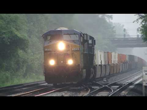 An Hour Of Trains In St Denis, Maryland