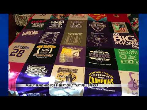 News Family Searching For Quilt That Fell Off Car