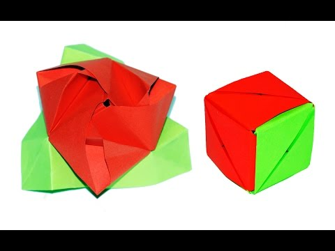 How to make a paper Magic Rose cube Tutorial / DIY easy