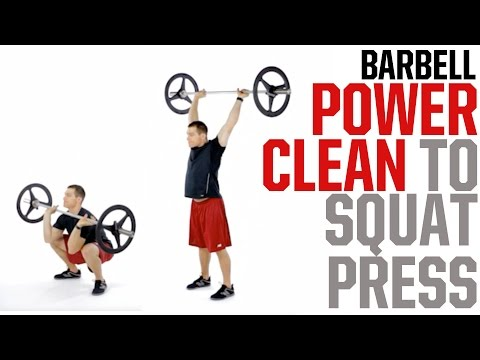 Full-Body Workout: Power Clean to Squat Press