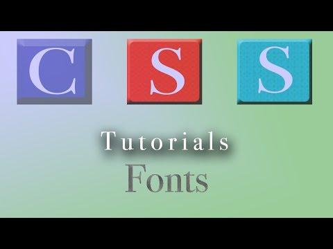 CSS Tutorial | Fonts