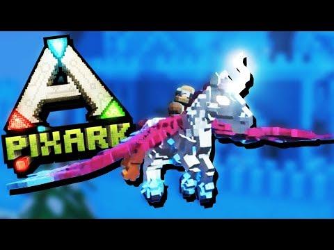 CRAZY Fast Pegasus Taming and Raiding ICE Fortresses! - PixArk Gameplay - Best Pixark Creature