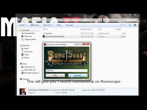 RuneScape MemberShip CODES !! 2012 !! No Surveys !! FREE Download !!