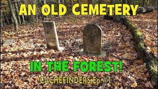 Metal Detecting An Old Cemetery In The Forest - Metal Detecting Canada - Minelab Safari