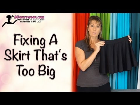 How to Fix a Skirt That's Too Big