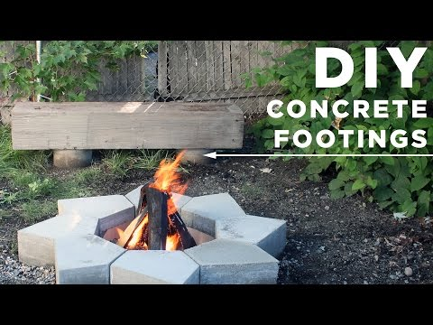 DIY Concrete Footings for an Outdoor Bench