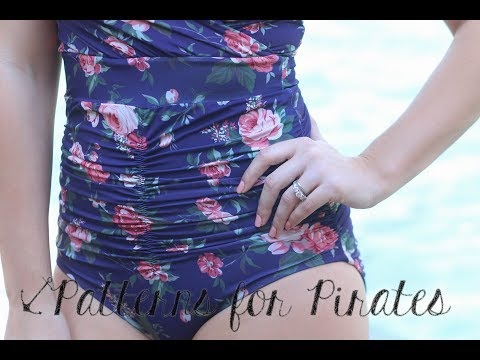 How to sew elastic onto a swimsuit edge.