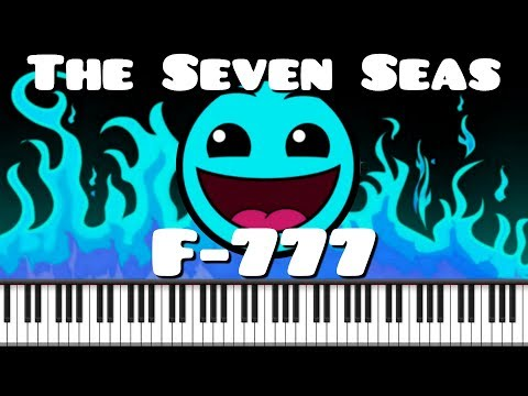 Synthesia [Piano Tutorial] F-777 - The Seven Seas (Geometry Dash Meltdown lvl 1)