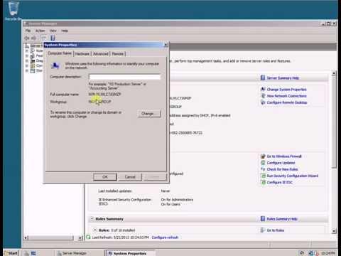 Change Computer Name - Windows Server 2008 R2