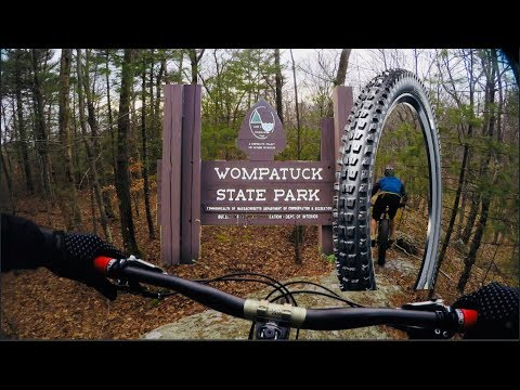 "Mountain Biking Wompatuck State Park | Trying out some new 2.6"" wide Specialized tires!"