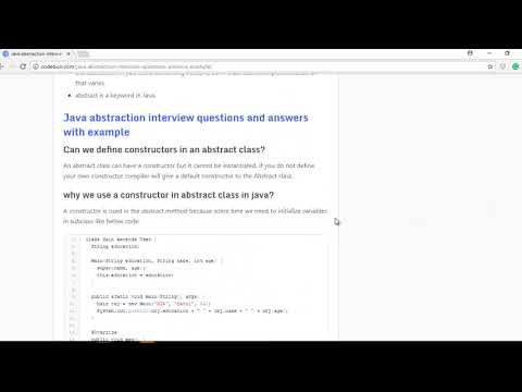 abstraction in java with interview questions and answers with example