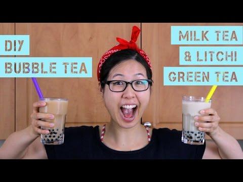 DIY Bubble Tea (Milk Tea & Litchi Green Tea)