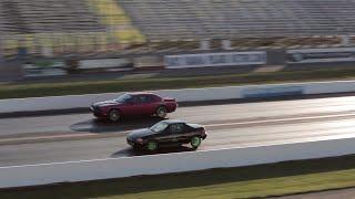 FAST Turbo Honda Del Sol Vs. Dodge Challenger SRT8 | Drag Race