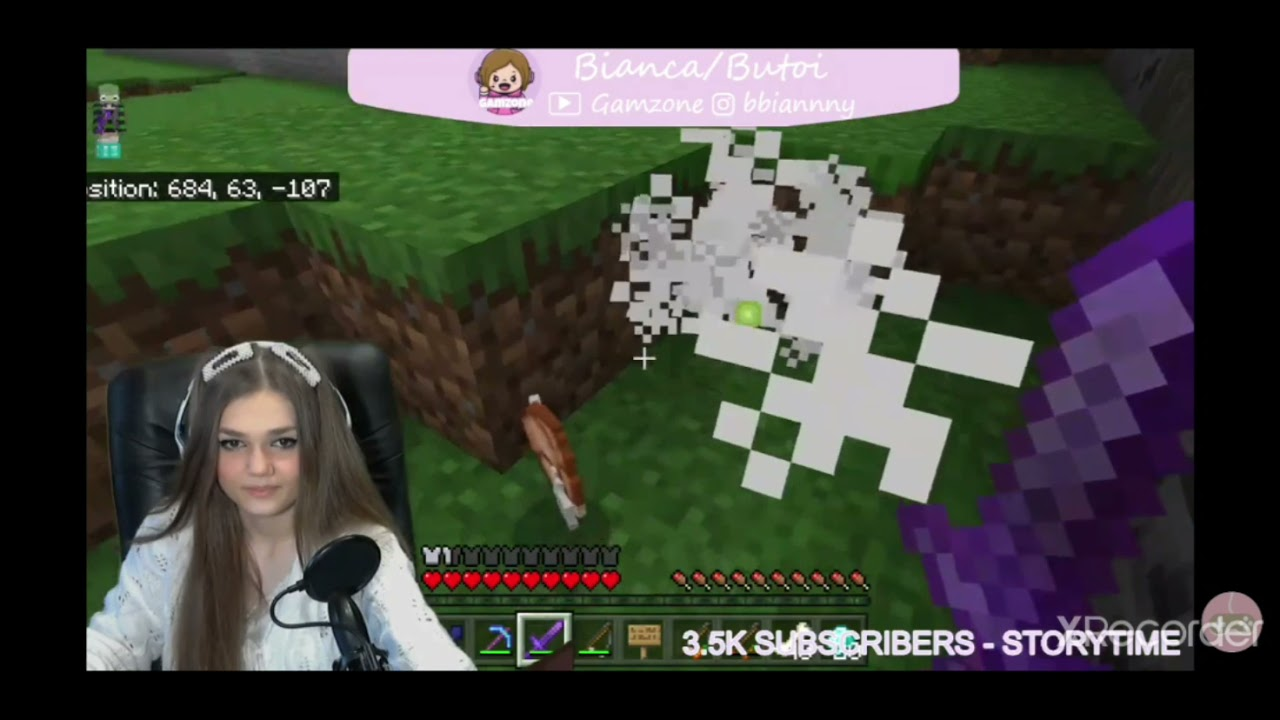 Just Bianca playing Minecraft.. :'D