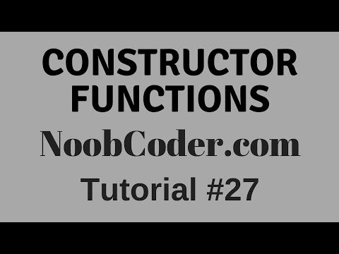 Working with Objects : Constructor Functions in JavaScript