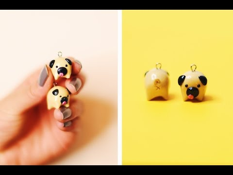 DIY PUGS 🐶 POLYMER CLAY CHARM TUTORIAL + GIVEAWAY! ✨