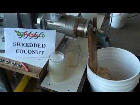 Shredded Coconut Oil Extraction with OilPress.Co M70