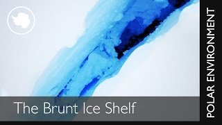 Crack in the Brunt Ice Shelf - Drone Footage