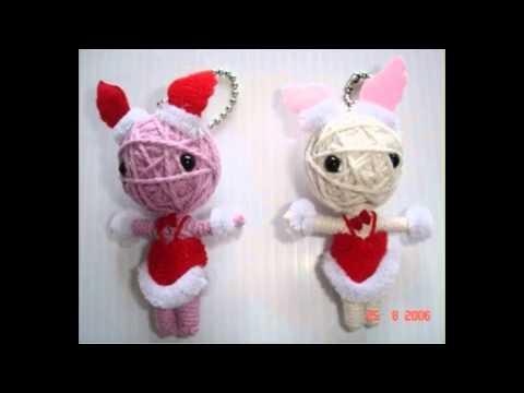 Santa claus chirstmas gift String dolls voodoo doll keychain  WWW.POKEITVOODOO.COM